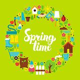 Spring Time Flat Circle
