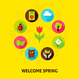 Welcome Spring Concept