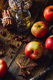 Red Apples with Clove, Cinnamon and Anise Star.