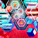Bright abstract pattern rhombuses