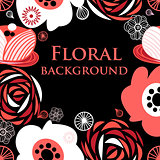 Floral vivid graphic background