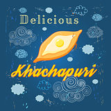 Poster delicious khachapuri