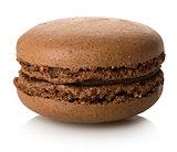 Chokolate macaron isolated