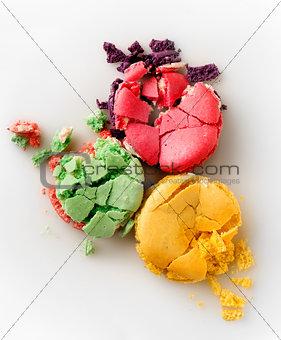 Three squashed macarons