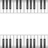 music background with piano keys. vector illustration
