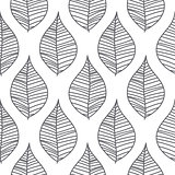 Abstract mesh leaves seamless vector pattern.
