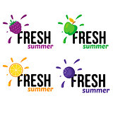 Various fruits badges.