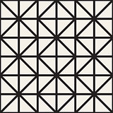 Seamless Pattern With Squares. Vector Stylish Geometric Linear Structure