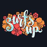 surf lettering print