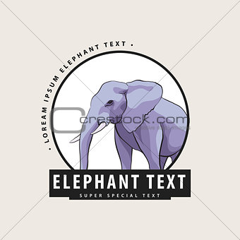 Corporate logo with an elephant