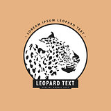 Stylish logo with leopard