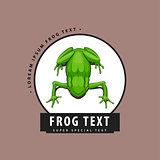 Designer logo with a frog