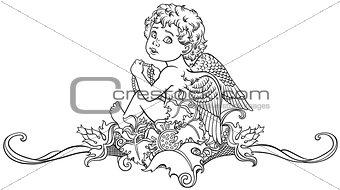 little angel outline