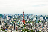Tokyo Tower and City Skyline, Japan