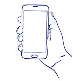 smartphone in hand use