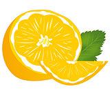 Ripe fruit tangerine
