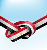 egypt ribbon flag on bue sky background