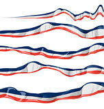 france flag collection horizontal on white background