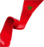 morocco ribbon flag on white background [Convertito]