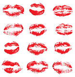 Vector Lipstick Kisses