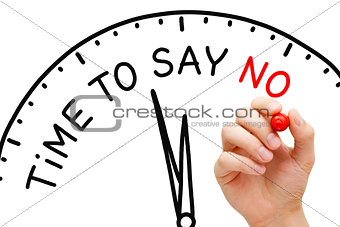 Time To Say No Clock Concept