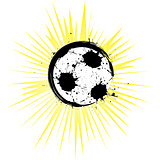 Abstract soccer ball in grunge style