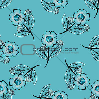 Abstract Floras pattern background.