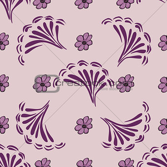 Abstract flower pattern background.