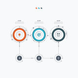 Infographics template 3 options with circle