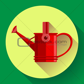 Watering can icon. Irrigation symbol. Flat Vector illustration.