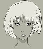 Manga anime pretty character face