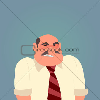Cartoon sad man character