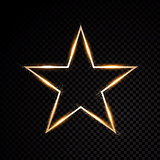 Star glow light effect burst with sparkles. Gold glitter