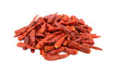 Spicy red birds eye chilli peppers