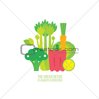 Broccoli Celery Carrot Lemon Lime Spinach Healthy and delicious food