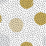 Seamless vector textured hand drawn polka dot pattern.