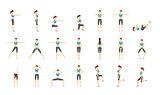 Girl Dioing Exercise on White Background Vector Illustration EPS