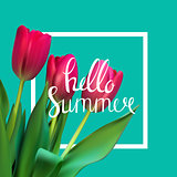 Hello Summer Natural Background Vector Illustration