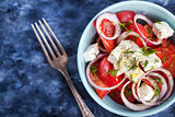 Fresh  tomato, onion and feta salad