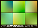 Vector abstract blurred background. Web site banners design. Interface template. Eco concept.