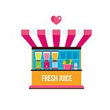Street Food Fresh organic juices shop