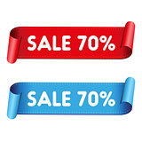 Seventy percent sale red ribbon