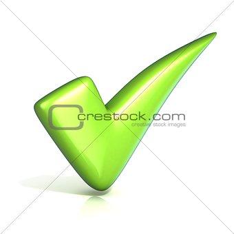 Green correct check mark