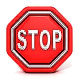Stop sign. 3D