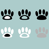 Footprint icon black grey white