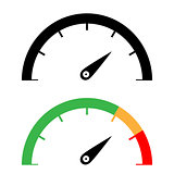 The black and color speedometer icon.