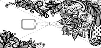 Black lace vector design.