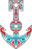 Anchor Totem Pole Northwest Coast Art