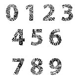 Embossed numbers for Education