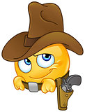 Smiling cowboy emoticon